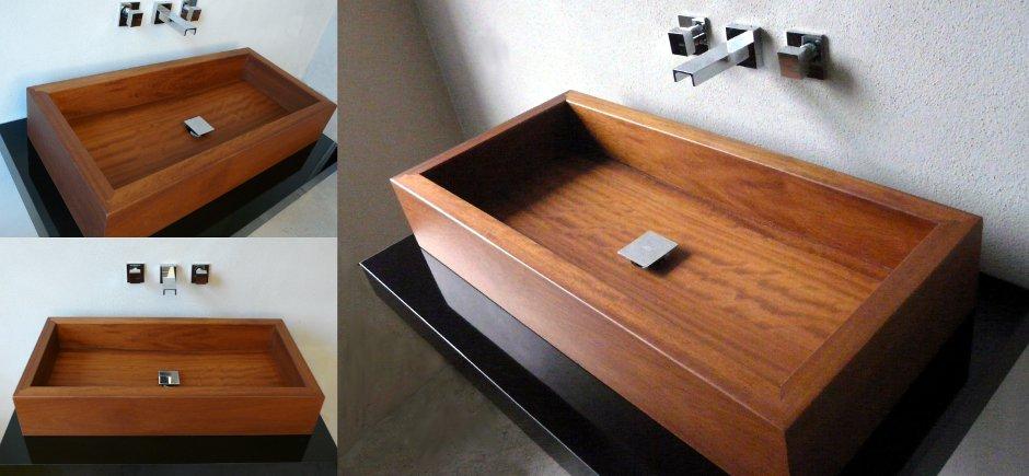 LAVABO BAGNO WOODWASH  AF - Lavabo moderno per il bagno in legno